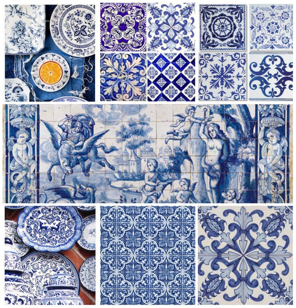 azulejos - traditional portuguese painted tiles