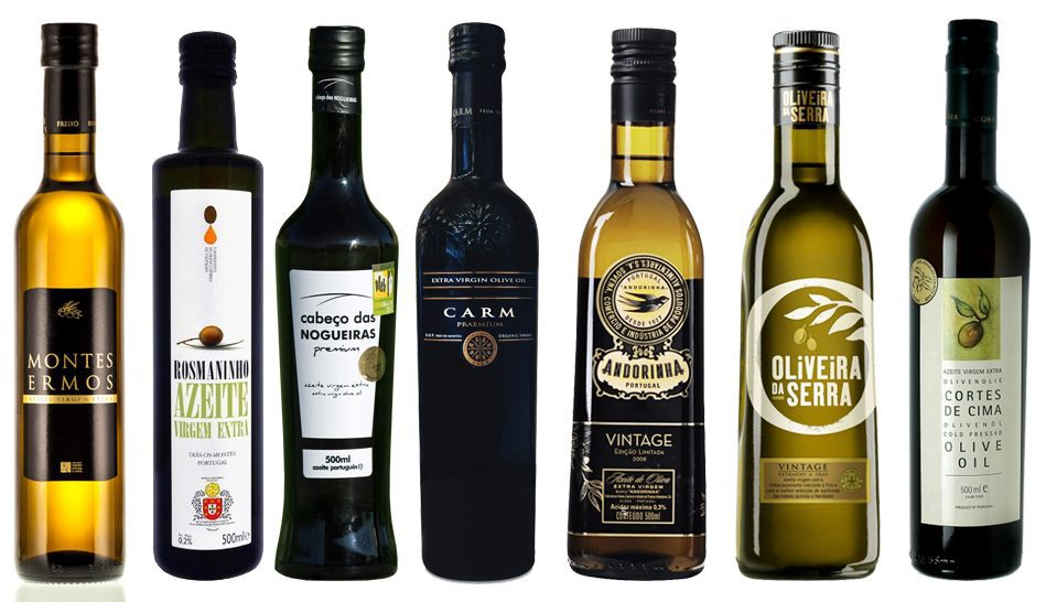 selection of portuguese olive oil bottles