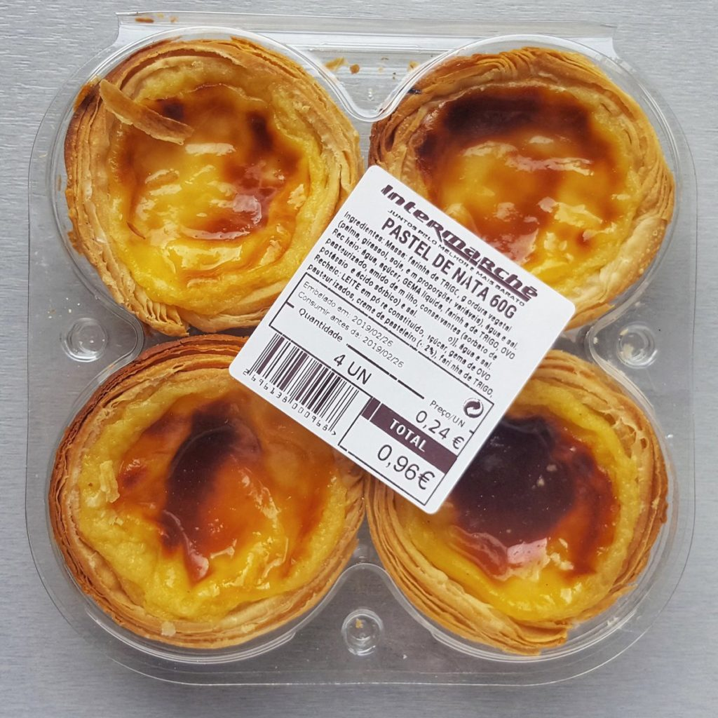 pasteis de nata from the supermarket