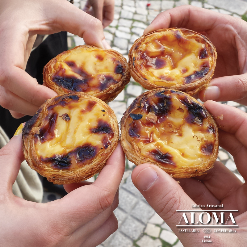 Natas from Aloma - One of the best pasteis de nata from Lisbon