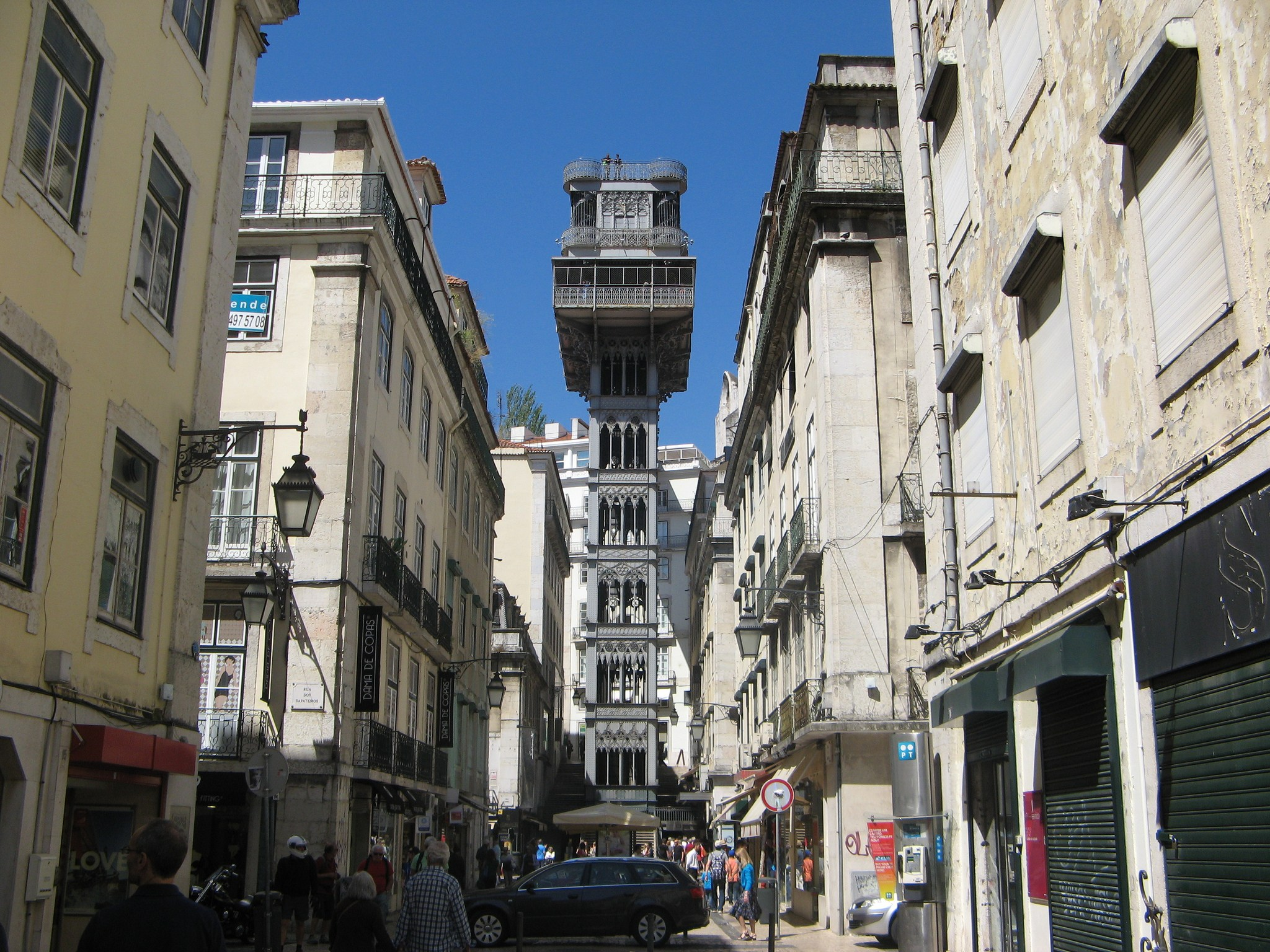 Santa Justa Elevator - City Center of Lisbon
