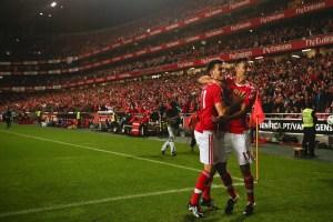Benfica Lisbon football players at Estadio da Luz - Lisbon
