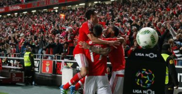 Benfica football players at Estadio da Luz - Lisbon